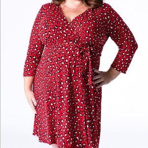 Lularoe Michelle red leopard dress size S
